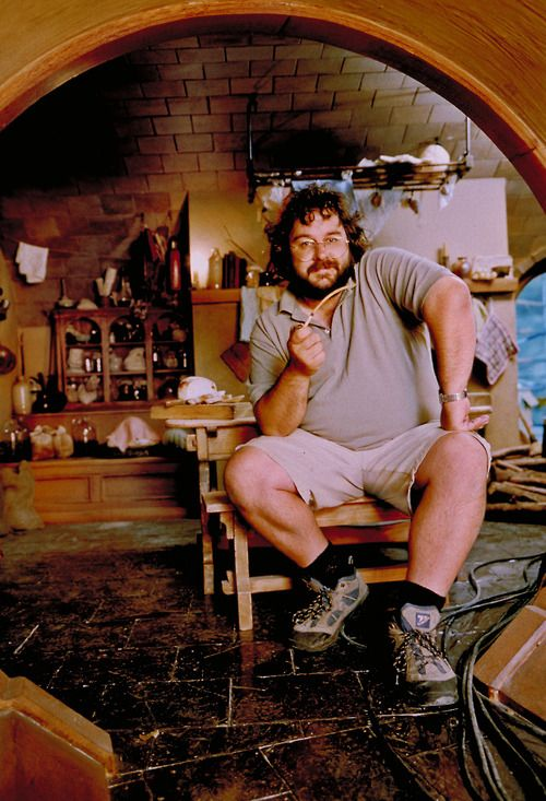 Peter Jackson on the set of The Lord of the Rings