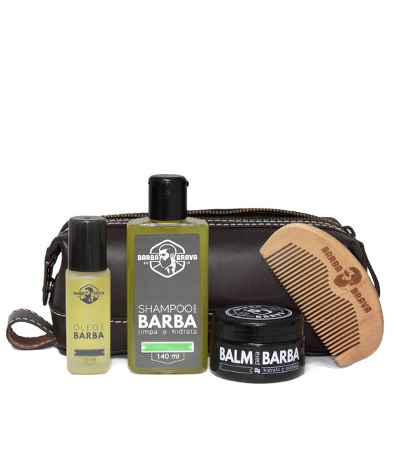 Kit para Barba Completo + Necessaire: