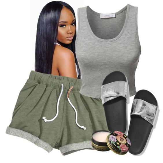 A fashion look from July 2016 featuring LE3NO tops and Victoria's Secret shoes. Browse and shop related looks.