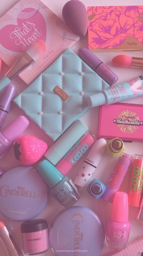 Beauty Makeup And Brushes Image Makeup Wallpapers Pink Aesthetic Pastel Aesthetic