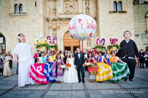 Wedding in Oaxaca, Mexico ~ beautiful colonial city in southern Mexico with cobblestone streets, gorgeous architecture, and delicious food ~ love!