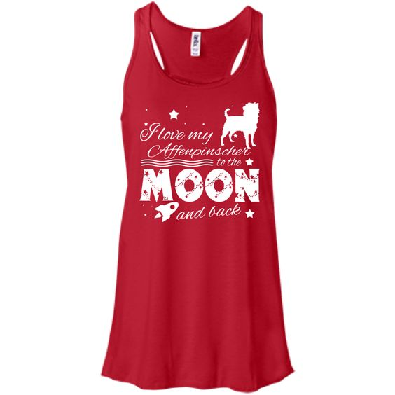 Love My Affenpinscher To The Moon And Back Flowy Racerback Tanks