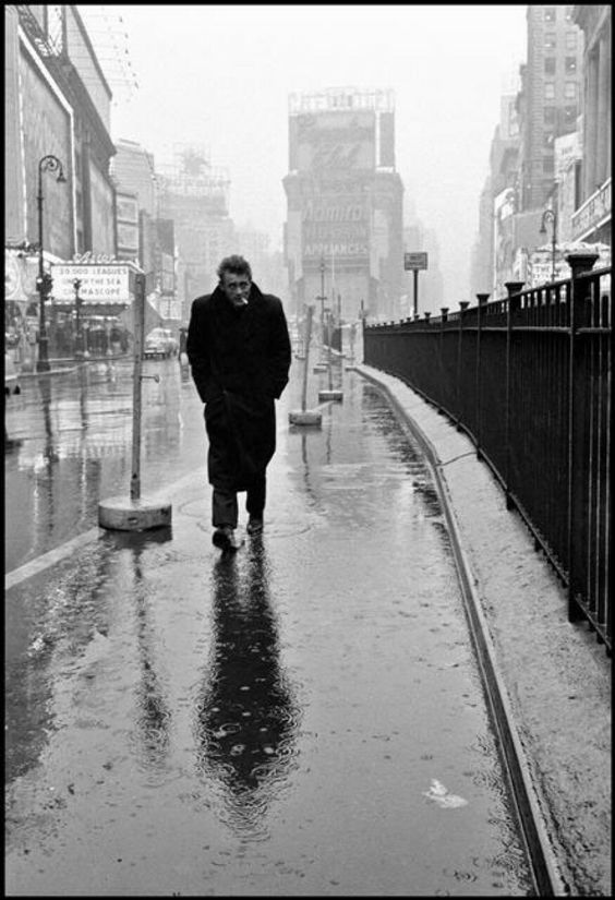 James Dean | by Dennis Stock,  Times Square, New York, ca1955