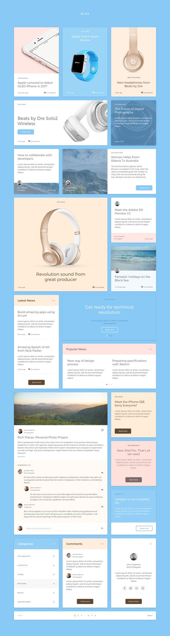 Dreamy is carefully crafted and stylish kit of UI components for the newest UI/UX tool from Adobe. Must have web elements for those, who want to make their work faster. Dreamy UI Kit for Adobe XD consists of 8 categories, 120+ components and 700+ elements…