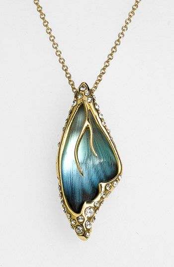 Alexis bittar 39 lucite jardin mystere 39 butterfly wing for Jardin necklace