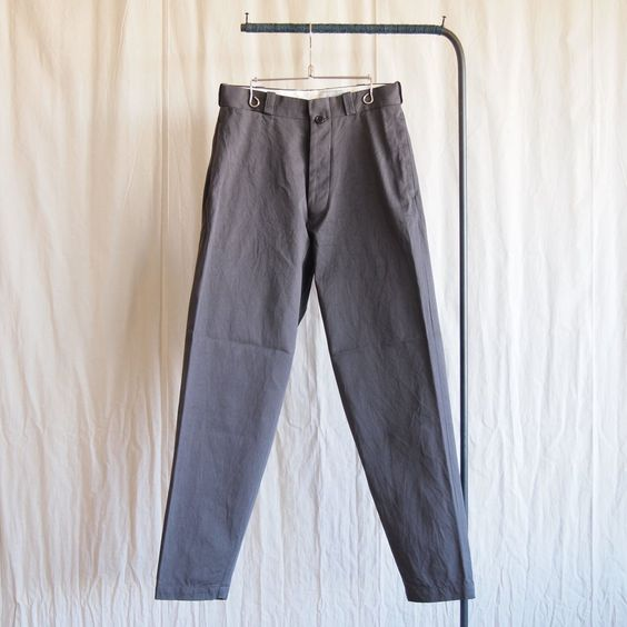 Chino Cloth Pants - wide tapered #charcoal