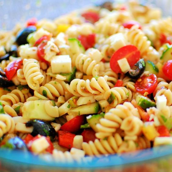 Cold Pasta Salad Recipe Onions Fresh Basil And Red