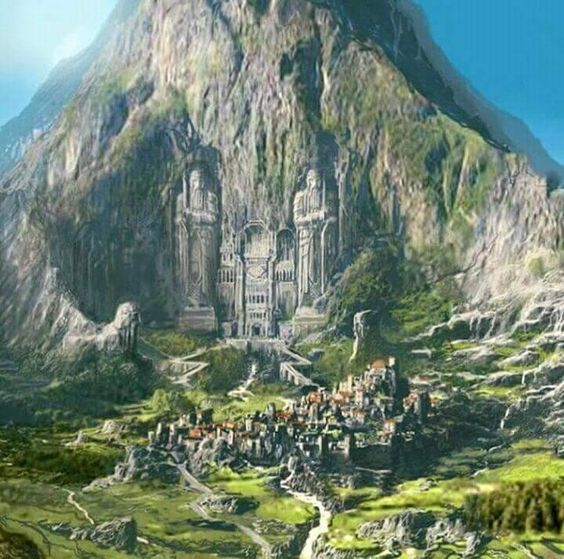 The Front Gate of Erebor & The Capital City of Dale.
