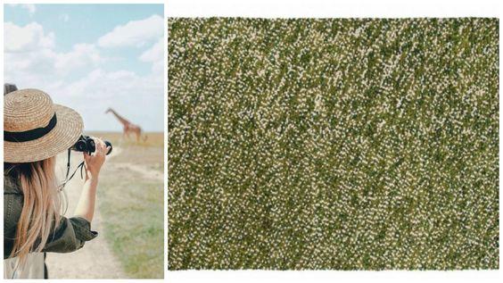 Reyansh - Safari eventyr Ligesom en afrikansk safari, naturens farver af grønne og gule spiller flot sammen i Reyansh. Det er ikke kun sjovt at røre men også at nyde at se på den! Det er lavet eksklusivt fra en utrolig soft håndvævet filtet uld garn. Lignende til en afrikansk eventyr, denne tæppe tilføjer en splash af farve og varme hvor end den er.