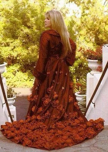 a cloak of roses