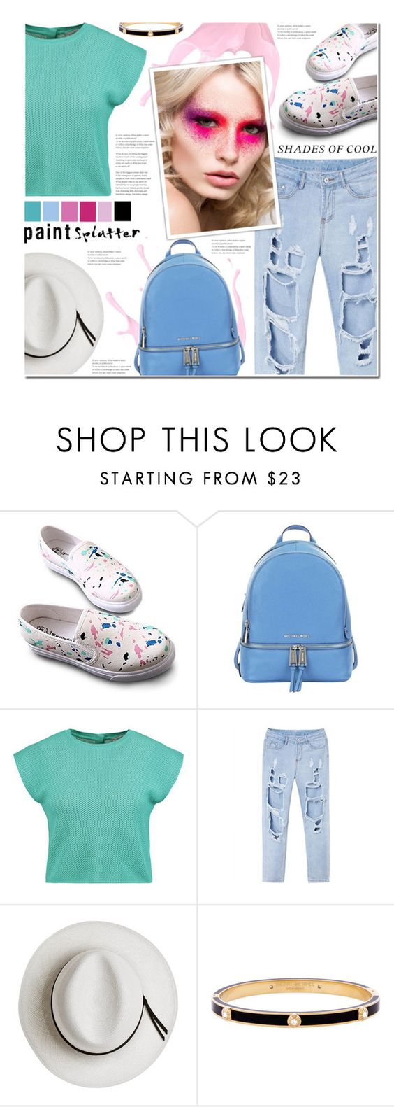 """""""Making a Splash With Paint Splatter"""" by anna-anica ❤ liked on Polyvore featuring MICHAEL Michael Kors, Vionnet, Calypso Private Label, Henri Bendel and paintsplatter"""