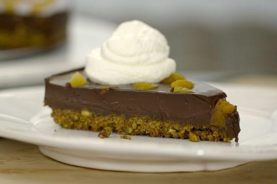 Chocolate-Pistachio Fudge Tart | Recipes | Giada De Laurentiis