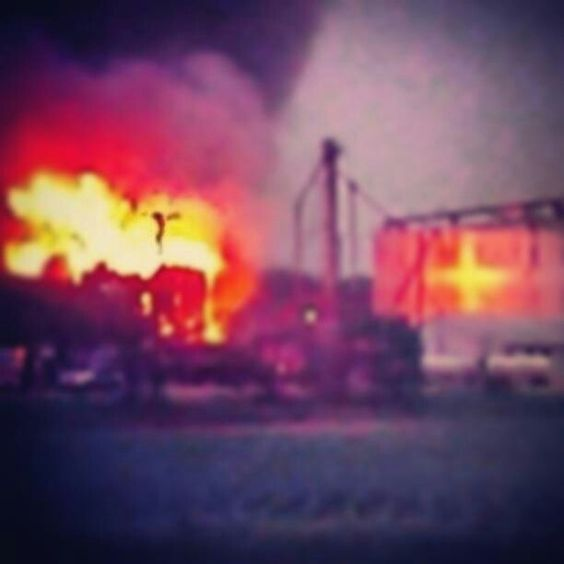 Pictures described as seeing Jesus on the cross during fire in West ,Tx....AMAZING