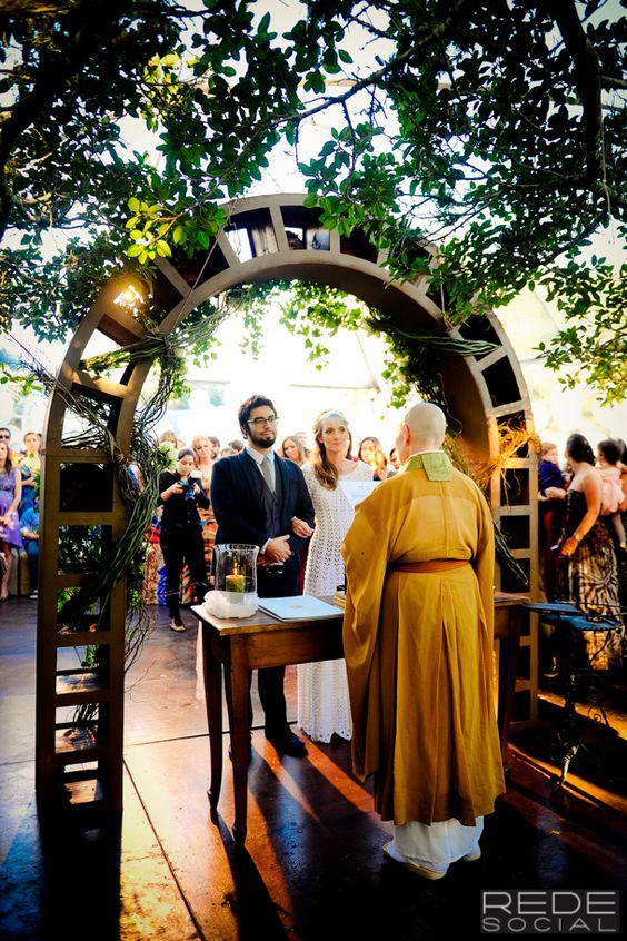 Monja cerimonia de casamento ao ar livre Porto Alegre