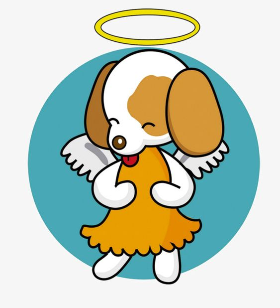 Image result for dog angel clipart