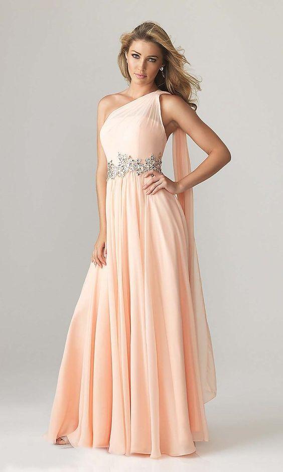 Vestido de fiesta rosa pastel