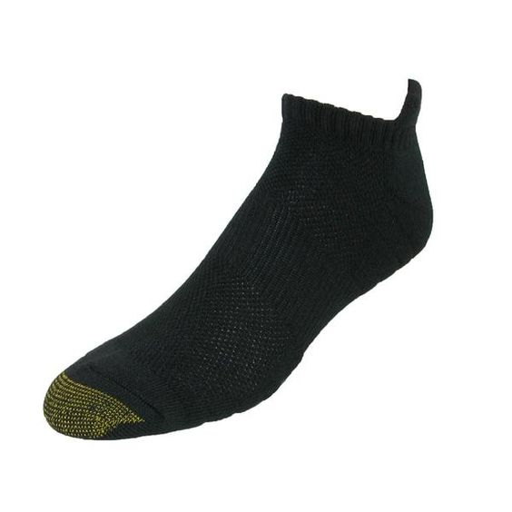 These quality Gold Toe socks will keep your feet cool and comfortable all day. The comfort cushion zones absorb shock while the arch support provides a secure fit. The reinforced toes and heels make these socks durable wash after wash.