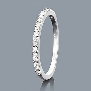 Slim Round Diamond Wedding Band