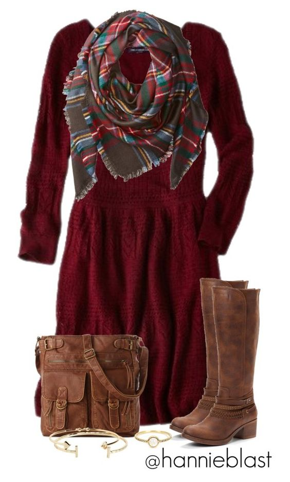 """Christmas Reunion"" by hannieblast ❤ liked on Polyvore featuring American Eagle Outfitters, Buji Baja, Mix No. 6, Aéropostale and Irene Neuwirth:"