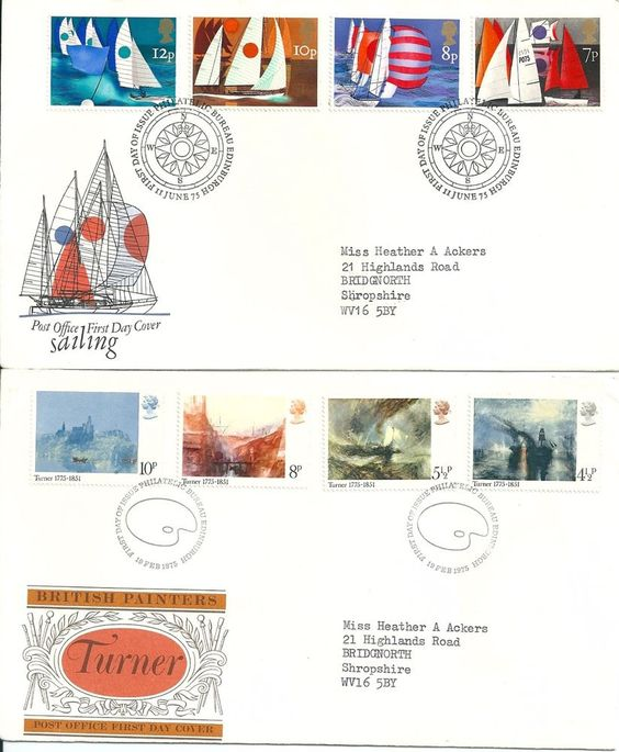 1975 GB Sailing & Turner Paintings Stamps on First Day Cover