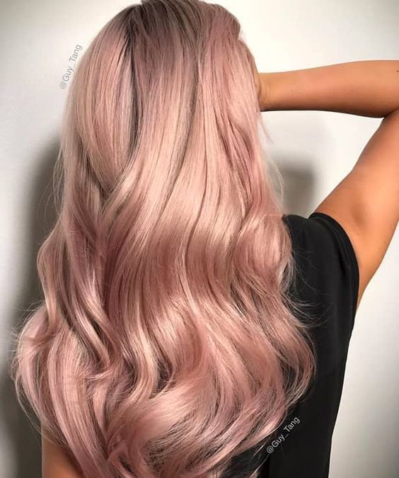 42 Trendy Rose Gold Blonde Hair Color Ideas Gold Blonde Hair