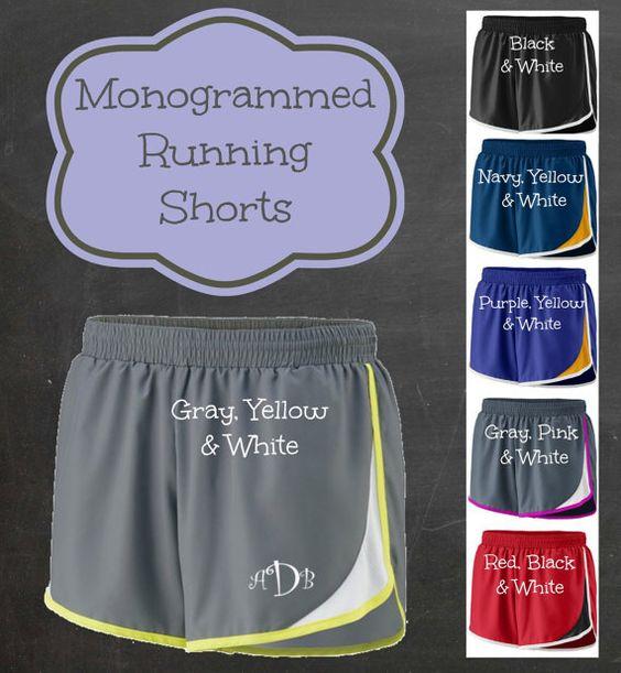 Ladies Monogrammed Running Shorts
