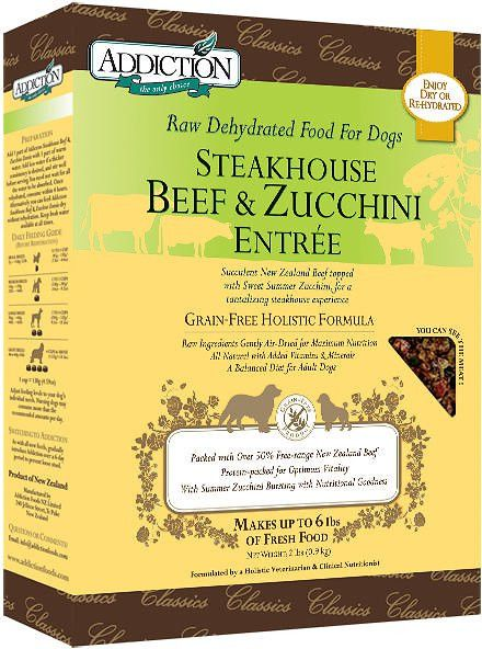 Addiction Steakhouse Beef & Zucchini Entree Raw Dehydrated Dog Food