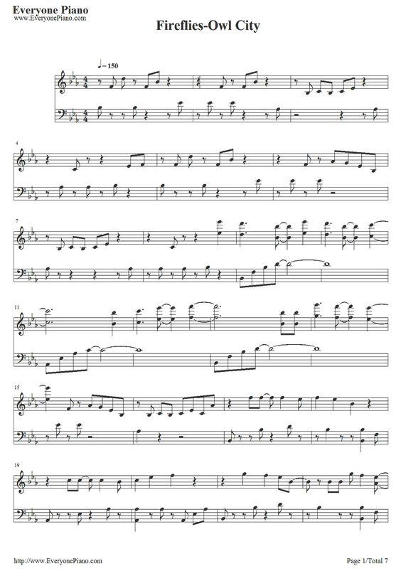 Fireflies Chords