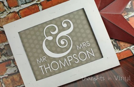Personalised Wedding Gifts Glasgow : ... Gift ideas Pinterest Mr Mrs, Monograms and Wedding Gifts
