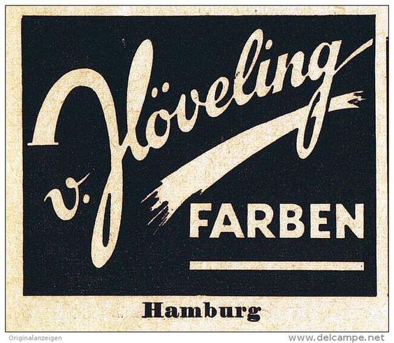 Original-Werbung/ Anzeige 1957 - HÖVELING FARBEN - HAMBURG - ca. 50 x 45 mm