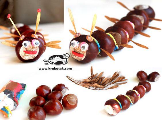 http://krokotak.com/2013/04/6-new-chestnut-acorn-and-plasticine-ideas/