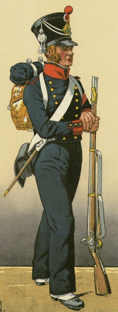 Marinaio del battaglione della marina imperiale 1808