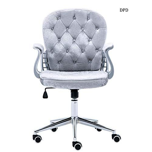 Dpd Office Chairs Silver Grey Crushed Velvet Fabric Home Office Chair Swivel High Adjustable Comput Computer Desk Chair Office Chair Home Office Computer Desk
