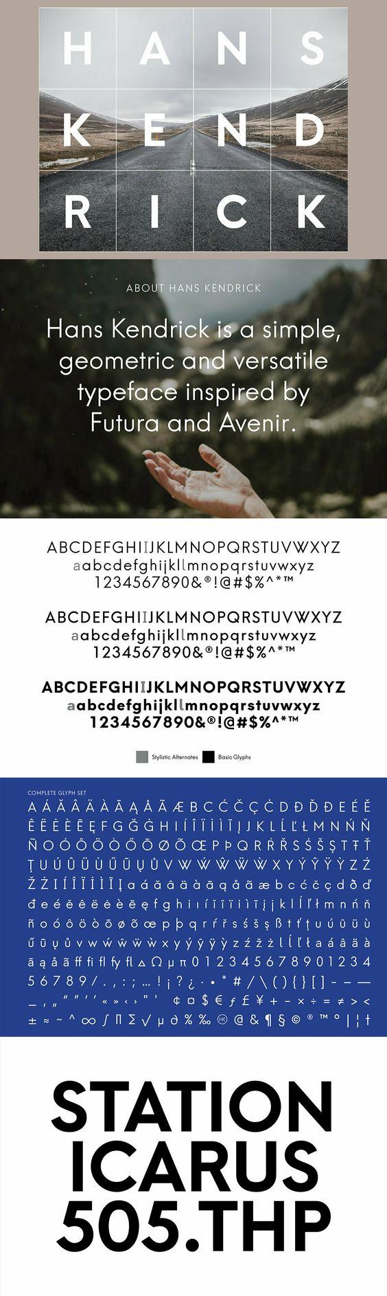 Hans Kendrick Custom Fonts Fonts Sans Serif Fonts