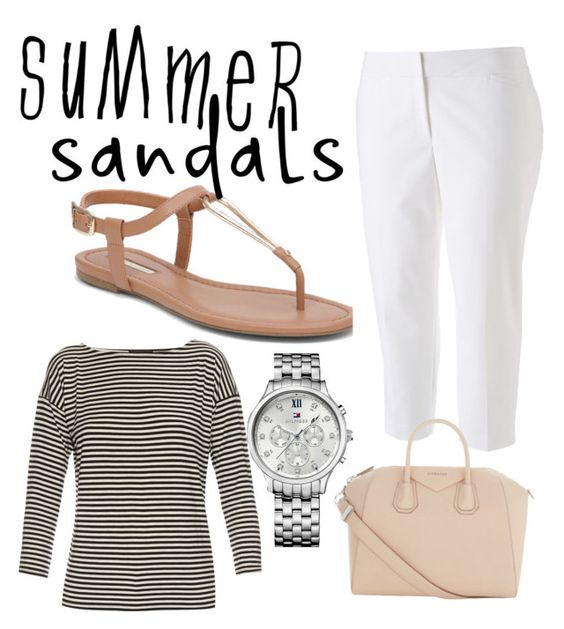"""Summerfest - Milwaukee"" by lisa-birenbaum on Polyvore featuring BCBGeneration, Apt. 9, ATM by Anthony Thomas Melillo, Givenchy, Tommy Hilfiger and summersandals"