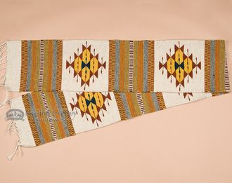 """Southwestern Zapotec Table Runner 10""""""""x80"""""""" (a11)"""