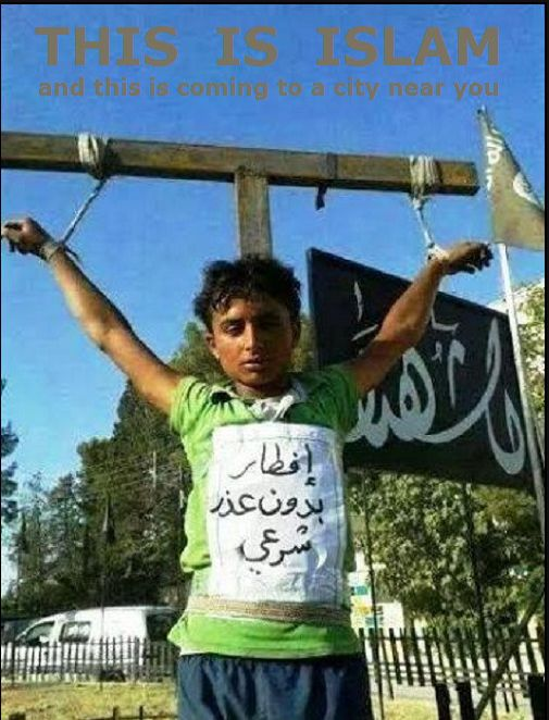 ISIS Muslim Militants Murder Two Children by Crucifixion for Eating During the Islamic Holy Month of Ramadan | The IS that controls part of the Syrian and Iraqi territory, has created a self-proclaimed caliphate and stands for the extreme measures of the Islamic Sharia law.