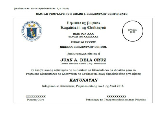 Sample template grade 6 10 12 certificate deped lps deped sample template grade 6 10 12 certificate deped lps deped teachers lesson plans display boards guides pinterest summative test certificate and yadclub Choice Image