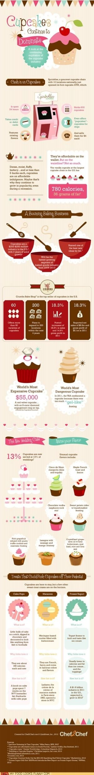 cupcake infographic by marcella