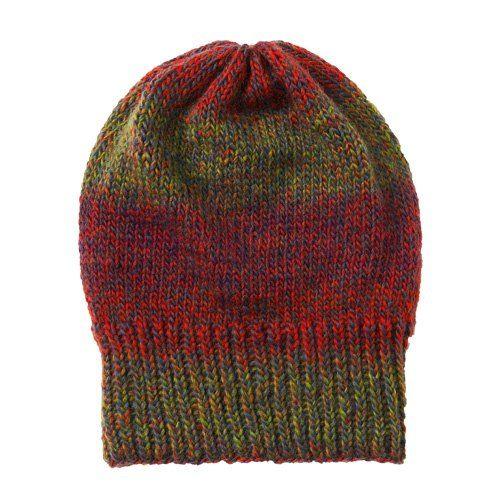 Melierte Mütze stricken