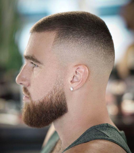 Mid Fade On Short Hair Military Haircut Military Haircuts Men Army Haircut