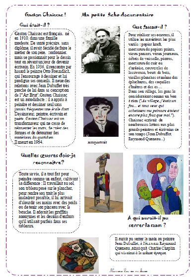 Chez nurvero gaston chaissac fiche lecture art les for Chaissac gaston