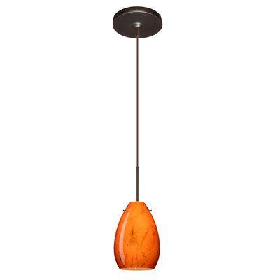 Besa Lighting Pera 1 Light Mini Pendant Bulb Type: Halogen, Finish:
