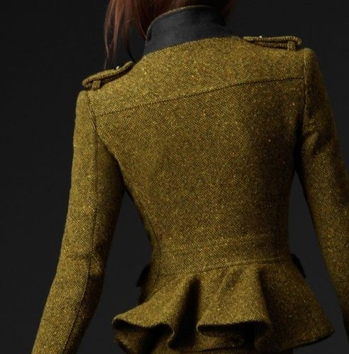 tweed/color: Peplum Jacket, Structured Jackets, Fashion Style, Charmedliving Burberry, Fashion Anxiety, Coats Jackets Blazers, Burberry Board, Burberry Jacket