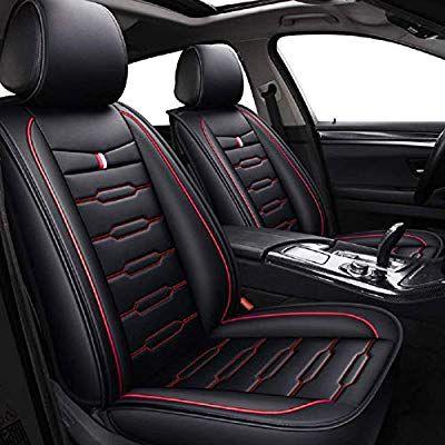 Amazon Com Skysep Cartoon Full Set Universal Fit 5 Seats Car Surrounded Waterproof Leather Car Seat Covers In 2020 Leather Car Seats Leather Car Seat Covers Car Seats