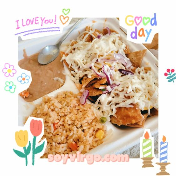 vegan mexican food - chilaquiles rice and beans   soyvirgo.com