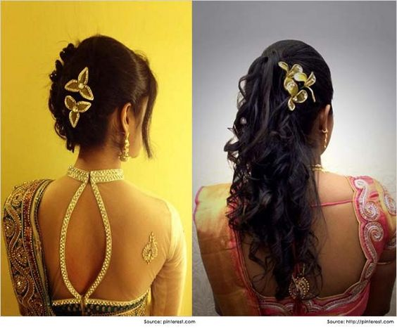 10 Lavish Wedding Hairstyles For Long Hair: Top 10 Indian Wedding Hairstyles For Sarees