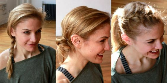 simple workout hairstyles