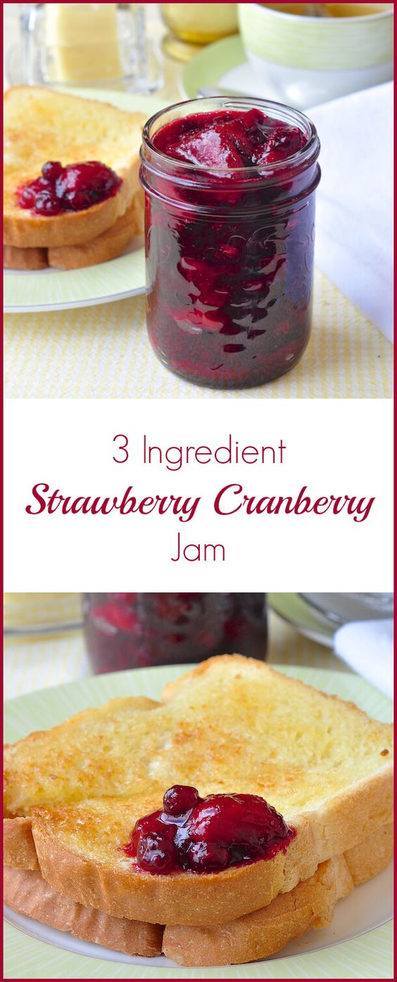 Cranberry jam, Cranberries and Strawberries on Pinterest