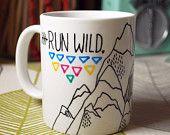 Run Wild My Heart Mug - Hand Illustrated